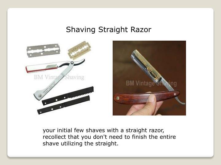 Shaving Straight Razor