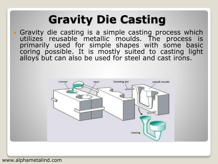 Gravity die casting is a simple casting process which