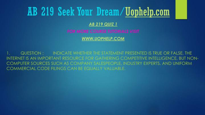 Ab 219 seek your dream uophelp com2