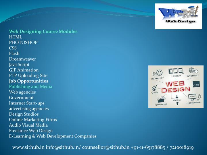 Web Designing Course Modules
