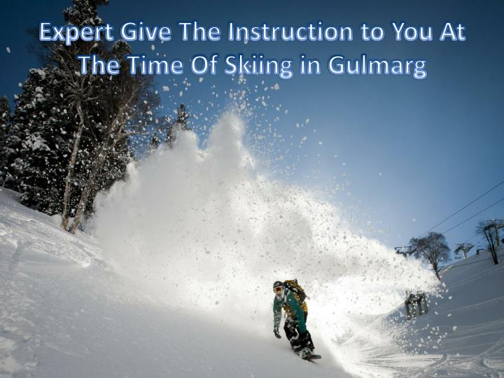 Expert Give The Instruction to You At The Time Of Skiing in