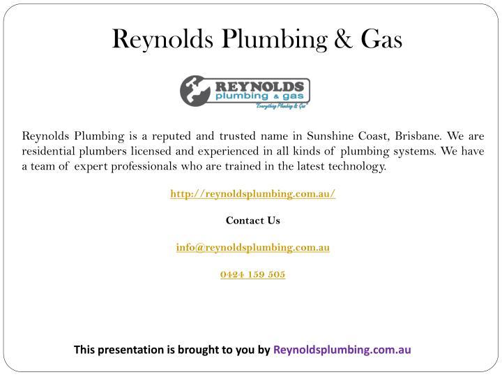 Reynolds Plumbing & Gas