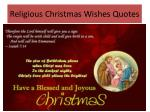 r eligious christmas wishes q uotes