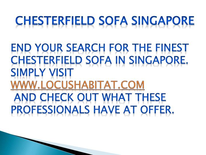Chesterfield Sofa Singapore