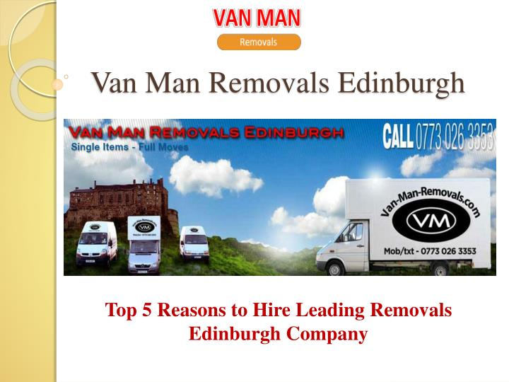 Van man removals edinburgh