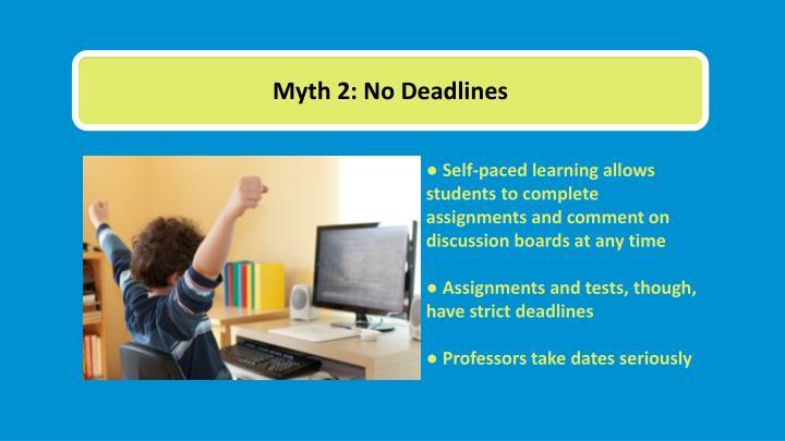 Myth 2: No Deadlines