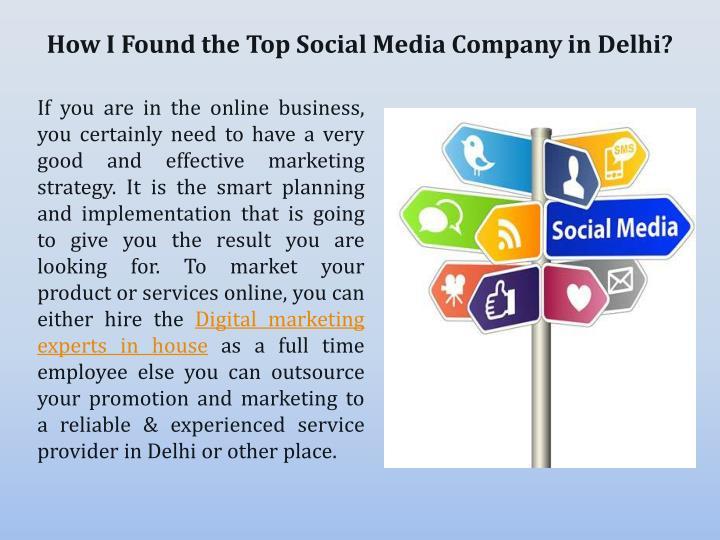 How I Found the Top Social Media Company in Delhi?