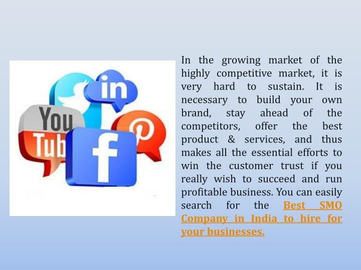 In the growing market of the highly competitive market, it is very hard to sustain. It is necessary to build your own brand, stay ahead of the competitors, offer the best product & services, and thus makes all the essential efforts to win the customer trust if you really wish to succeed and run profitable business. You can easily search for the