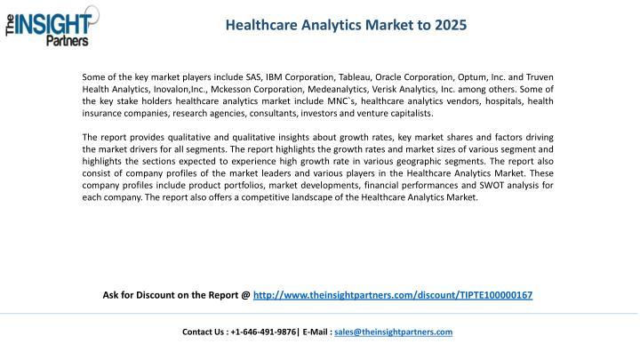 Healthcare Analytics Market to 2025
