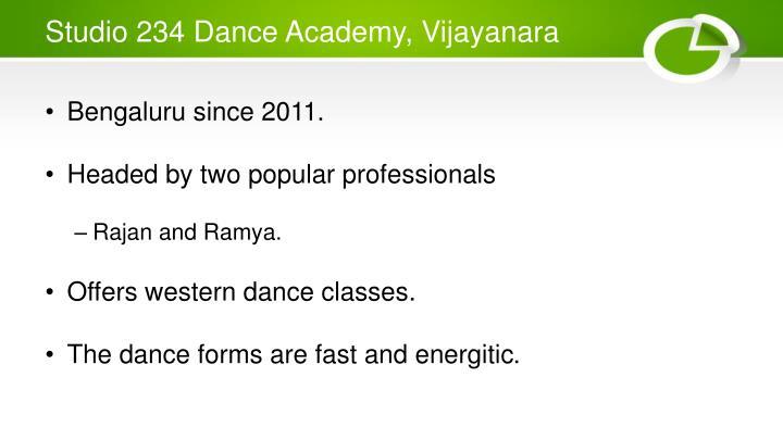 Studio 234 Dance Academy, Vijayanara