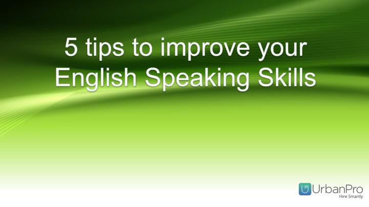 5 tips to improve your English