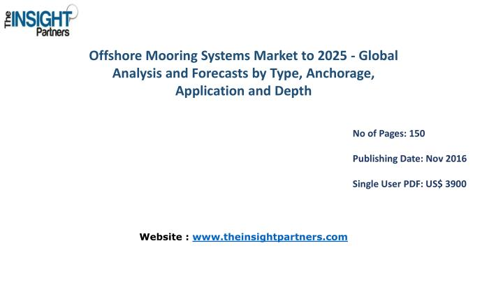Offshore Mooring Systems Market to 2025 - Global Analysis and Forecasts by Type, Anchorage, Applicat...