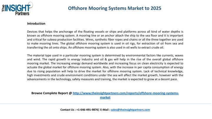 Offshore Mooring Systems Market to 2025