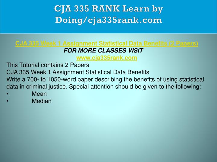 CJA 335 RANK Learn by Doing/cja335rank.com