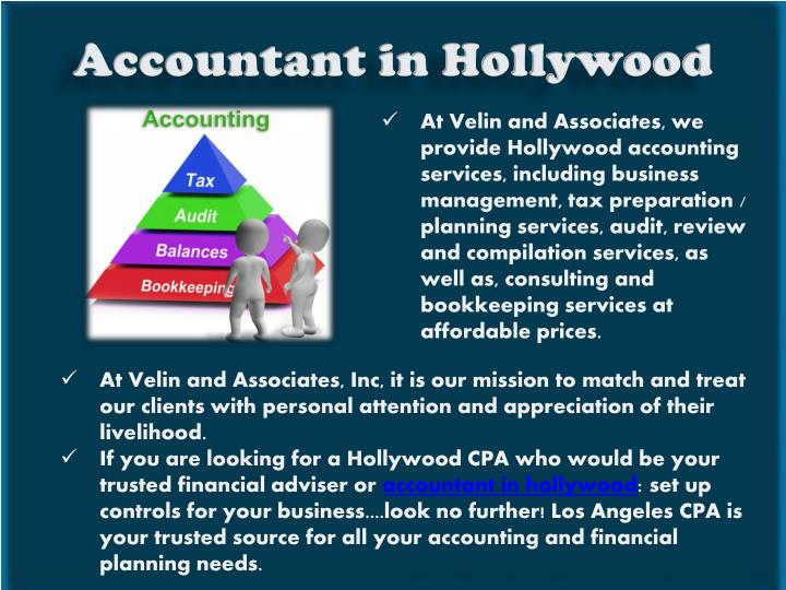 Accountant in Hollywood