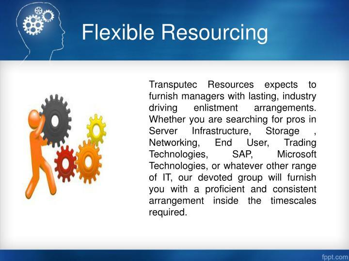 Flexible Resourcing
