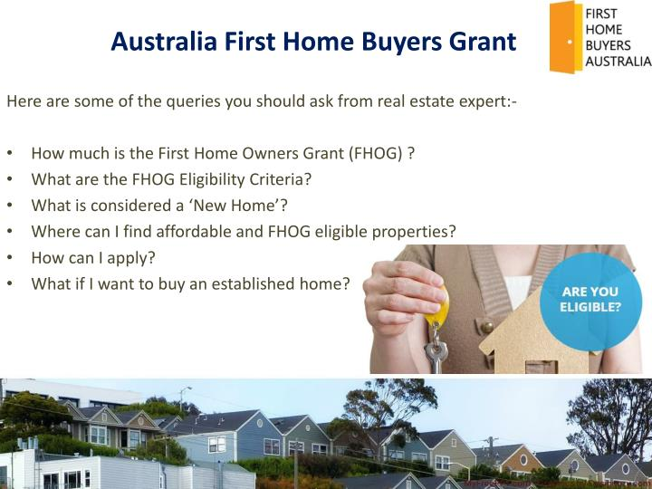 Australia First Home Buyers Grant