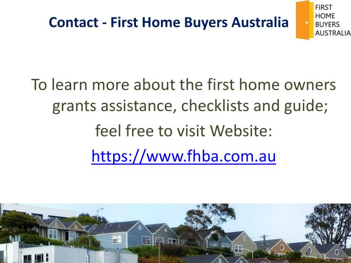 Contact - First Home Buyers Australia