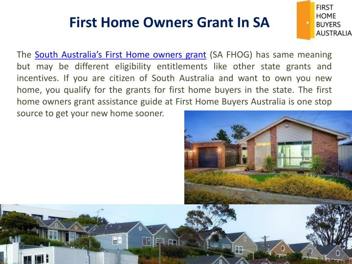 First Home Owners Grant In SA