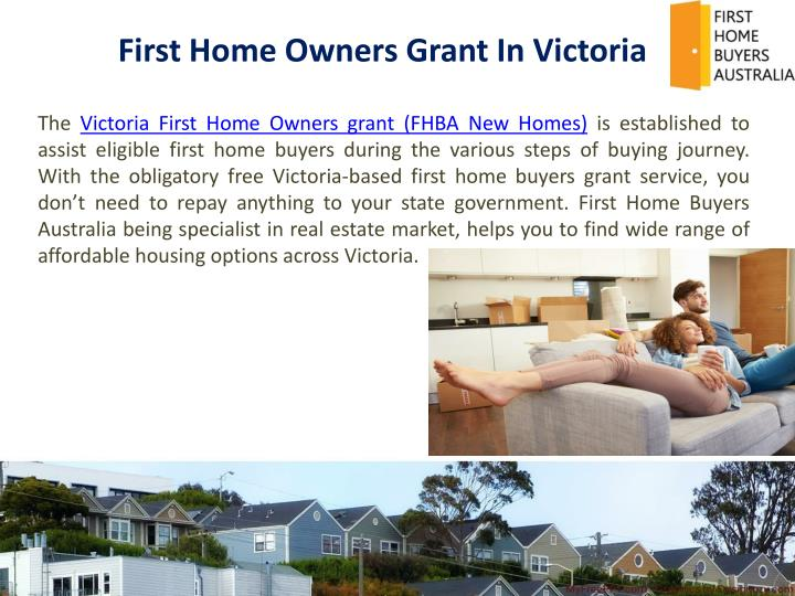 First Home Owners Grant In Victoria