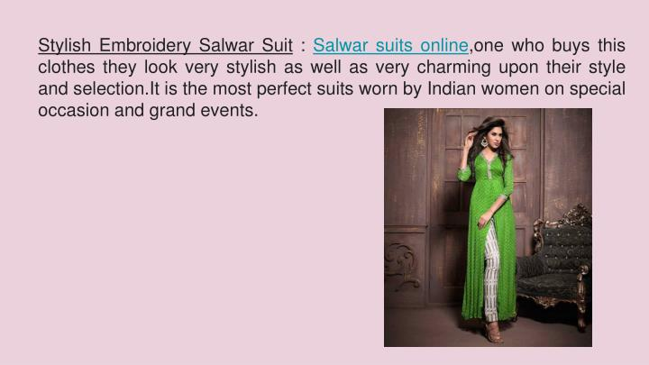 Stylish Embroidery Salwar Suit