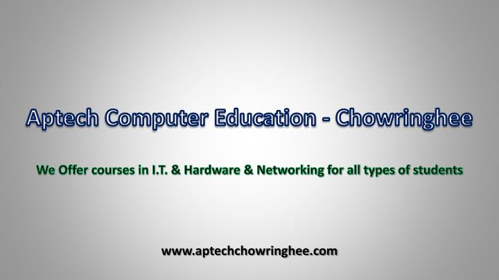 Aptech computer education chowringhee