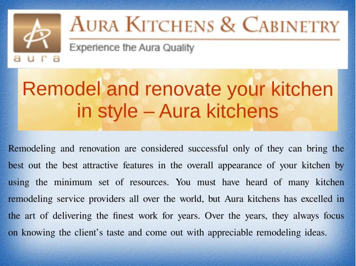 Remodel and renovate your kitchen
