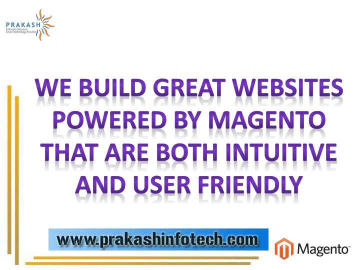 We build great websites powered by