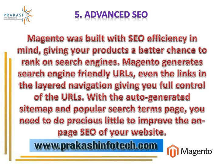5. Advanced SEO