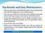 top brands and easy maintenance