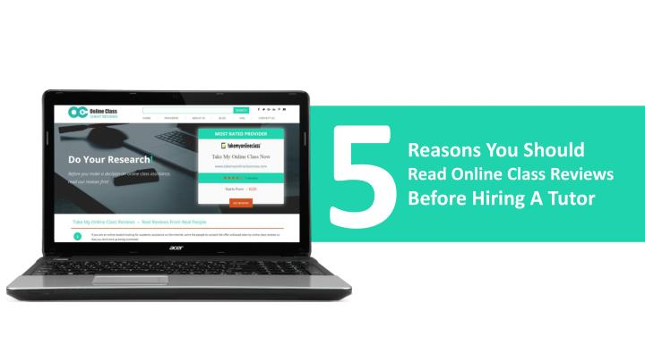 Online class reviews 5 reasons you need them