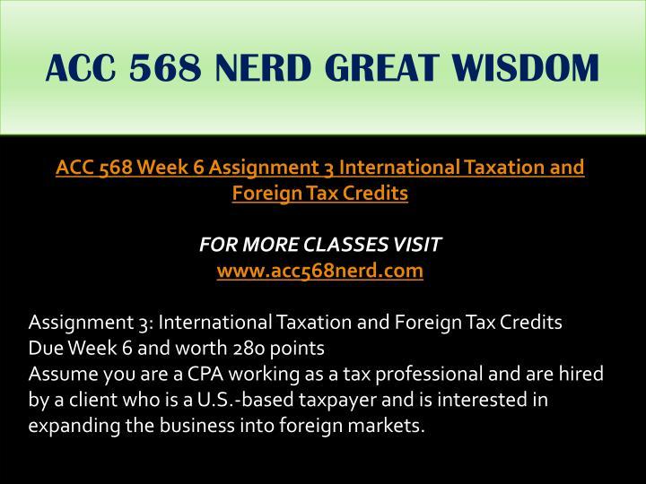 ACC 568 NERD GREAT WISDOM
