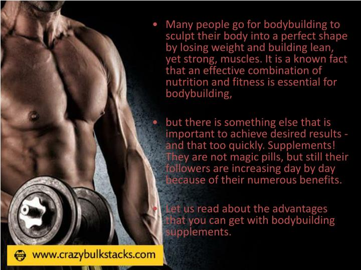Many people go for bodybuilding to sculpt their body into a perfect shape by losing weight and build...