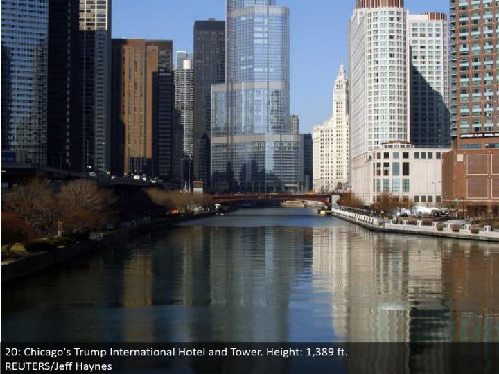 20: Chicago's Trump International Hotel and Tower. Stature: 1,389 ft. REUTERS/Jeff Haynes