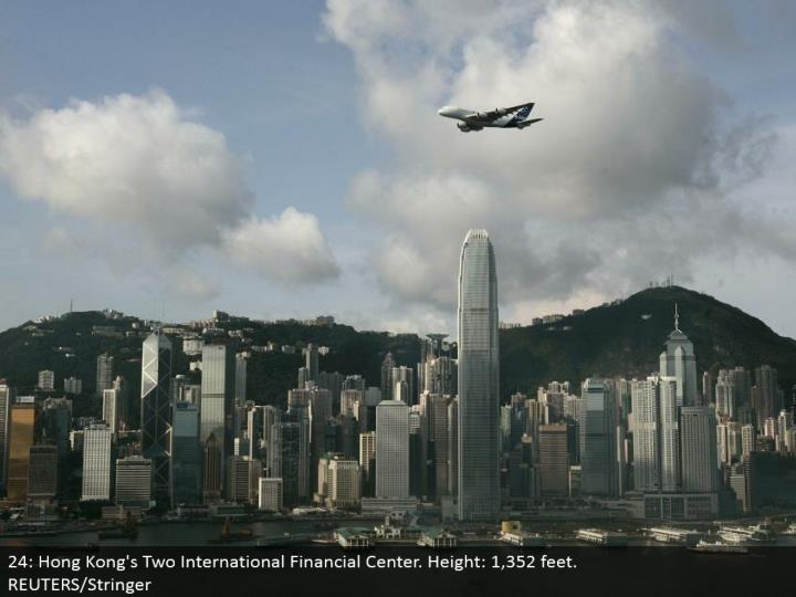 24: Hong Kong's Two International Financial Center. Stature: 1,352 feet. REUTERS/Stringer