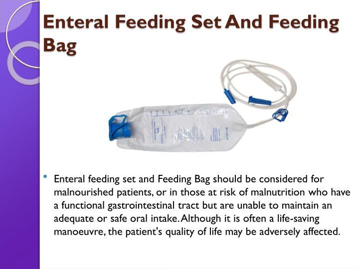 Enteral Feeding Set And Feeding Bag