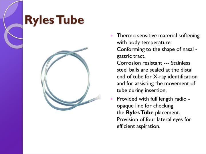 Ryles Tube