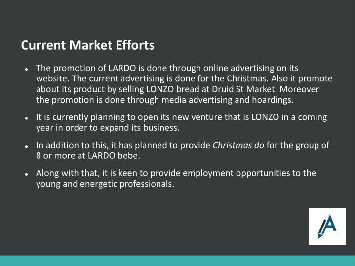 Current Market Efforts
