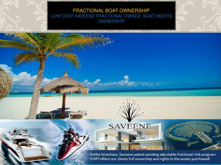 fractional boat ownership