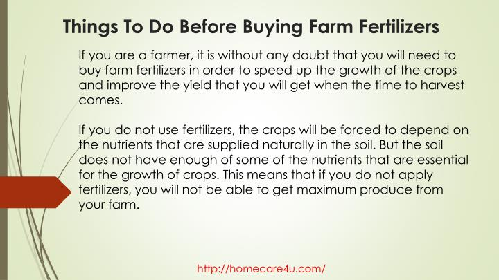 Things to do before buying farm fertilizers1