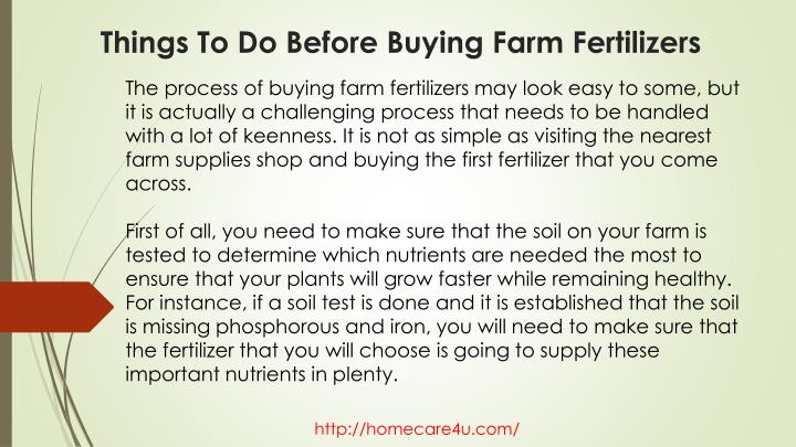 Things to do before buying farm fertilizers2