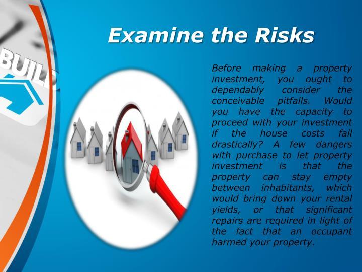 Examine the Risks