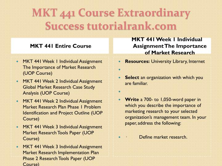 Mkt 441 course extraordinary success tutorialrank com1
