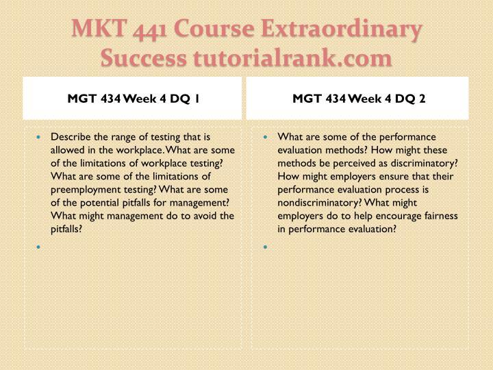 MGT 434 Week 4 DQ 1