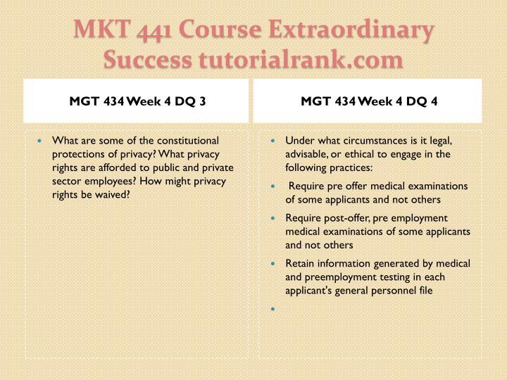 MGT 434 Week 4 DQ 3
