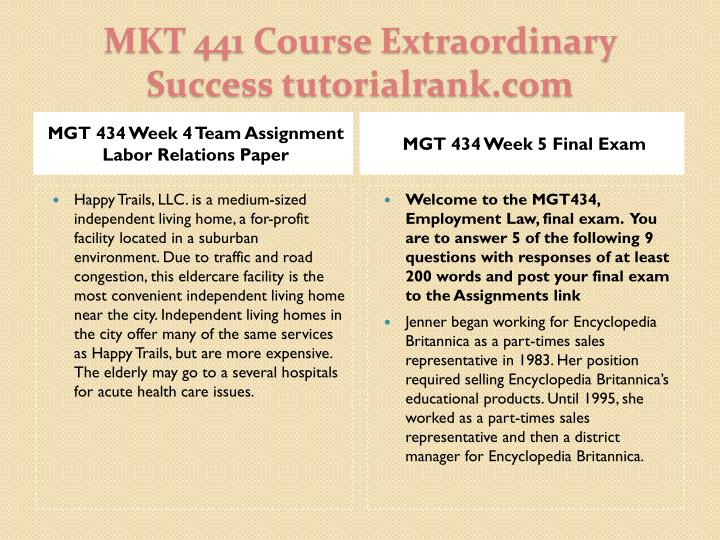 MGT 434 Week 4 Team Assignment Labor Relations Paper