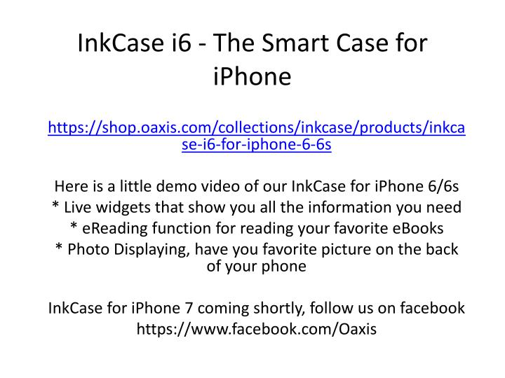 Inkcase i6 the smart case for iphone