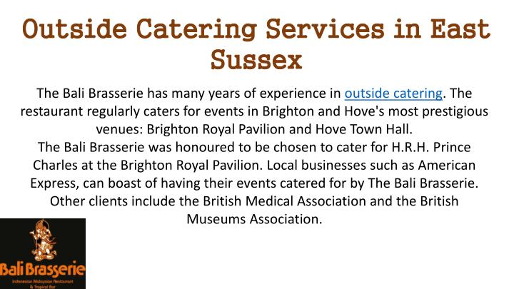 Outside Catering Services in East Sussex