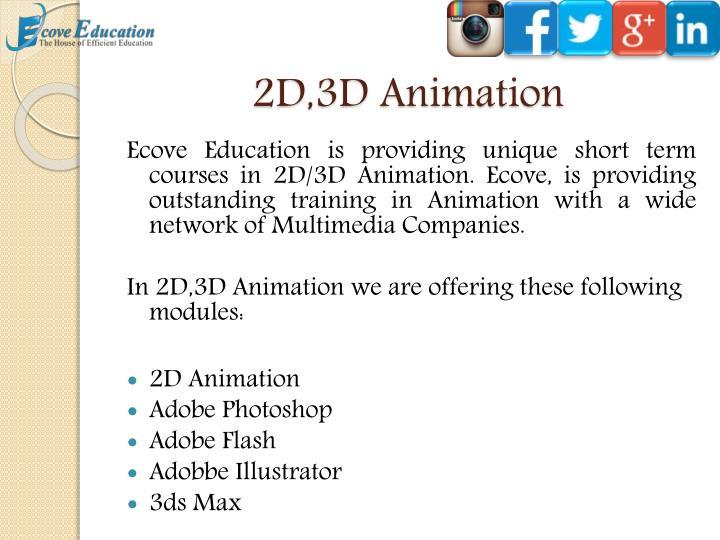 2D,3D Animation