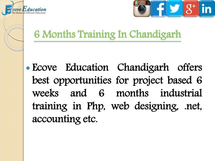 6 Months Training In Chandigarh
